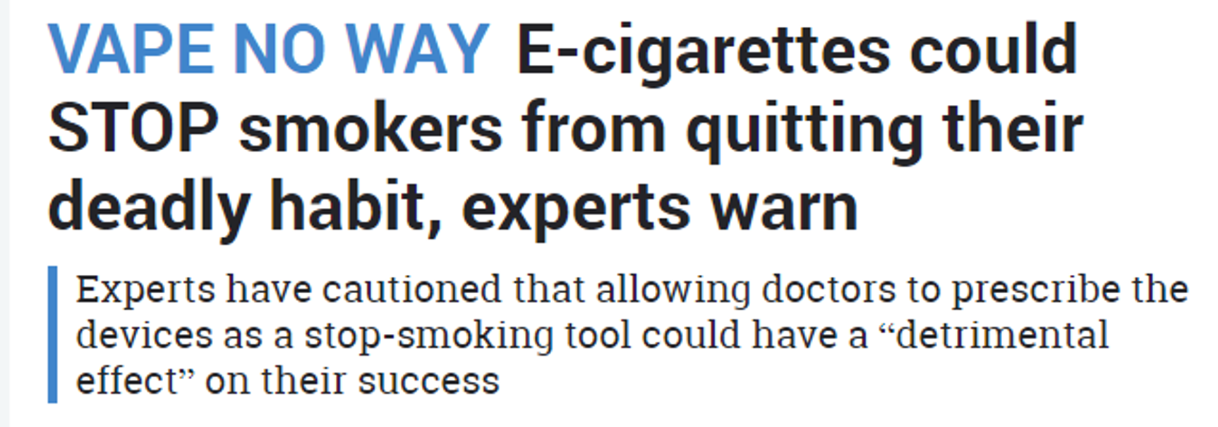 UKVIA's John Dunne gives evidence to the Science and Technology Inquiry on E-Cigarettes