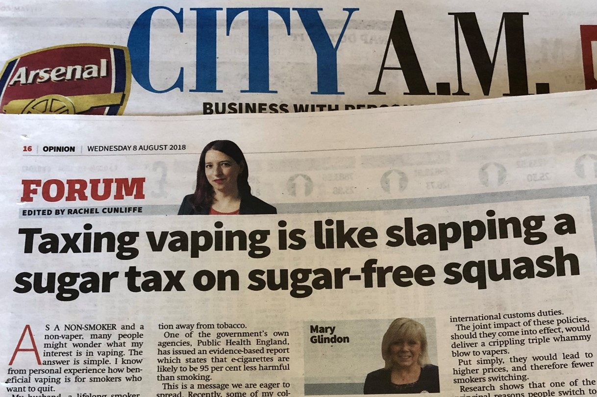 UKVIA Vape Tax Mary Glindon MP