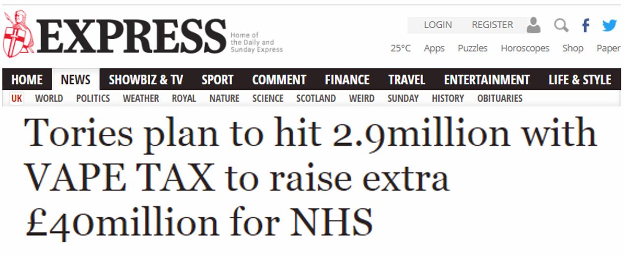 UKVIA Vaping Tax The Express