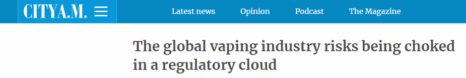 The global vaping industry risks being choked in a regulatory cloud