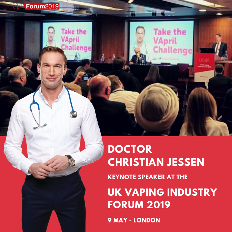 Dr Christian Jessen to be a keynote speaker at the UKVIA's Vaping Industry Forum