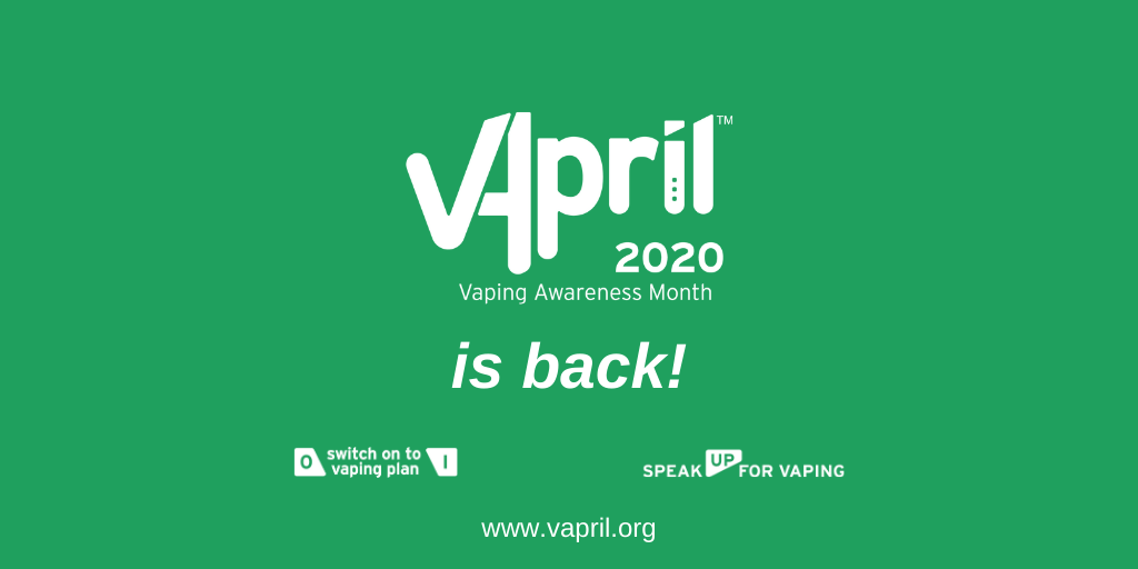 VApril 2020: World's largest vaping consumer education campaign is rolled out to support UK smokers and vapers this April